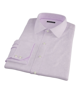 Thomas Mason Pink Mini Houndstooth Fitted Dress Shirt