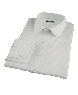 Blue and Yellow Stripe Men's Dress Shirt
