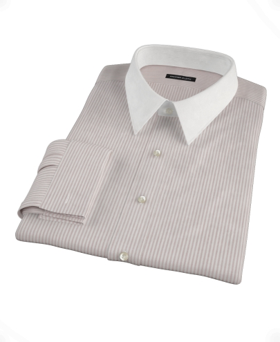 Burgundy Stripe Heavy Oxford Cloth Custom Dress Shirt