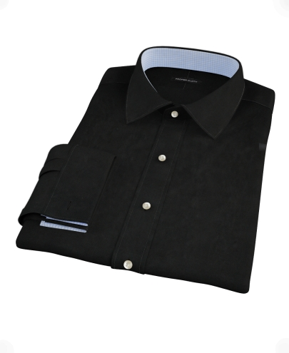 Black 100s Broadcloth Custom Dress Shirt