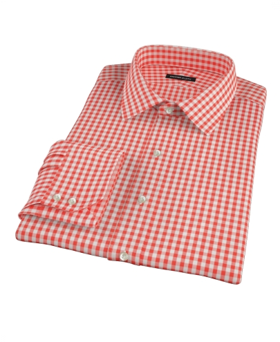 Red Gingham Men's Dress Shirt