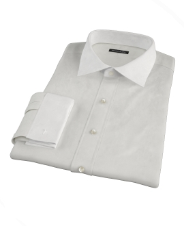 White Phantom Grid Men's Dress Shirt 