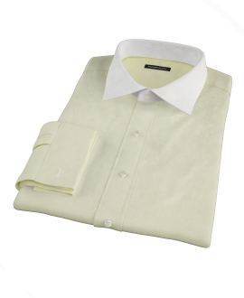 Yellow End-on-End Stripe Custom Dress Shirt