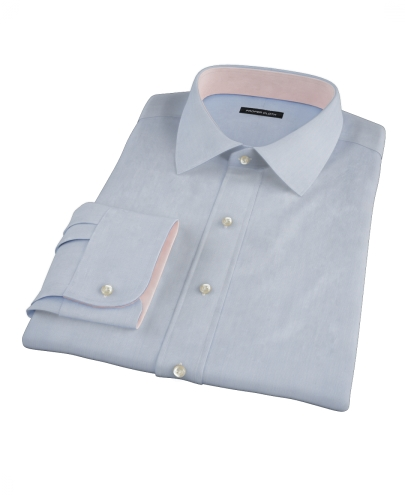 Light Blue Fine Stripe Fitted Dress Shirt