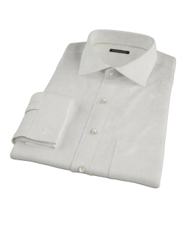 White Phantom Wide Stripe Men's Dress Shirt
