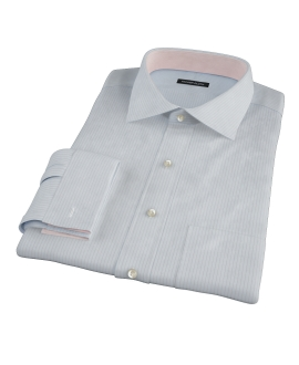 Light Blue Gray Stripe Custom Dress Shirt