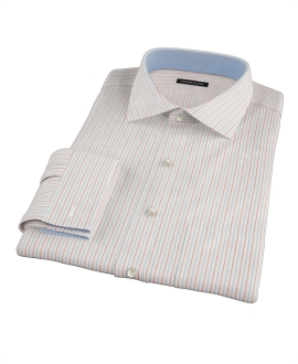 Blue and Red Stripe Men's Dress Shirt