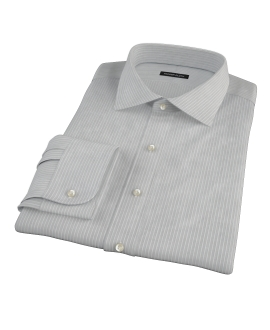 Charcoal End-on-End Stripe Custom Dress Shirt