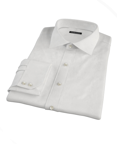White Royal Dobby Fitted Dress Shirt