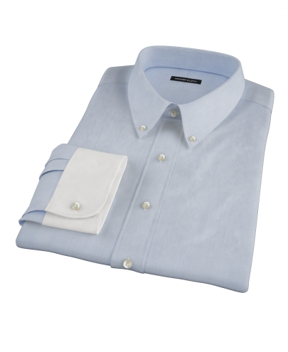 Light Blue Fine Stripe Custom Dress Shirt