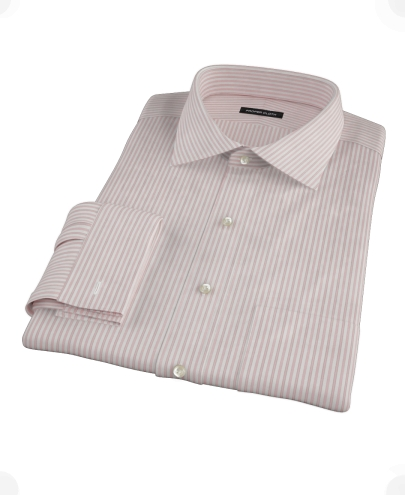 Bordered Pink Stripe Men's Dress Shirt 
