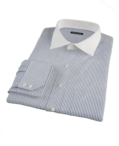 Blue Medium Grid Custom Dress Shirt