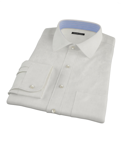White Phantom Wide Stripe Fitted Dress Shirt