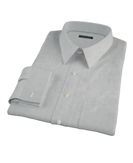 Light Gray Herringbone Men's Dress Shirt