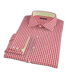 Union Red Gingham Custom Dress Shirt