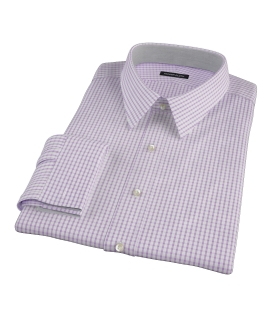 Greenwich Lavender Grid Custom Dress Shirt