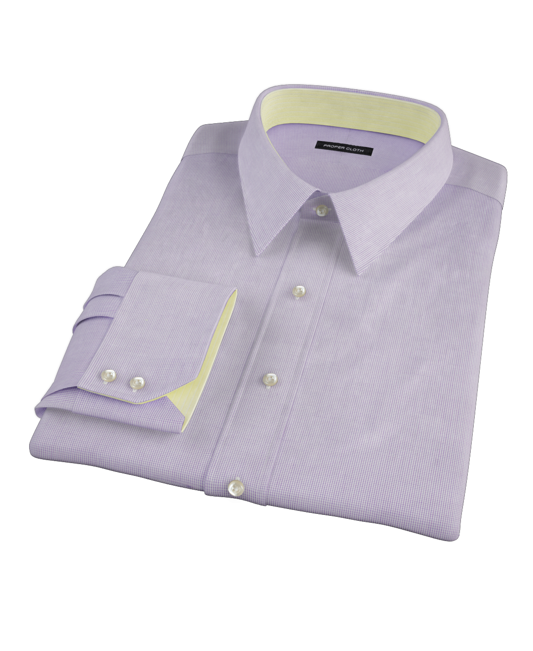 Purple mini grid men 39 s dress shirt by proper cloth for Proper cloth custom shirt price