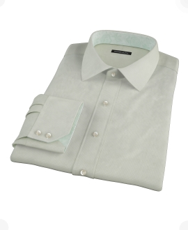 Soft Green Basketweave Custom Dress Shirt 