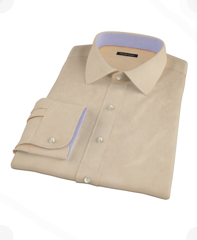 Orange End-on-End Custom Dress Shirt 