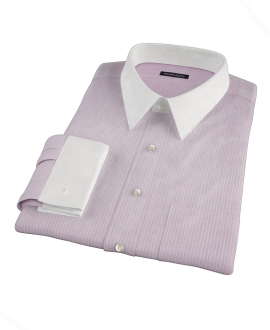 Viola End-on-End Stripe Custom Dress Shirt 