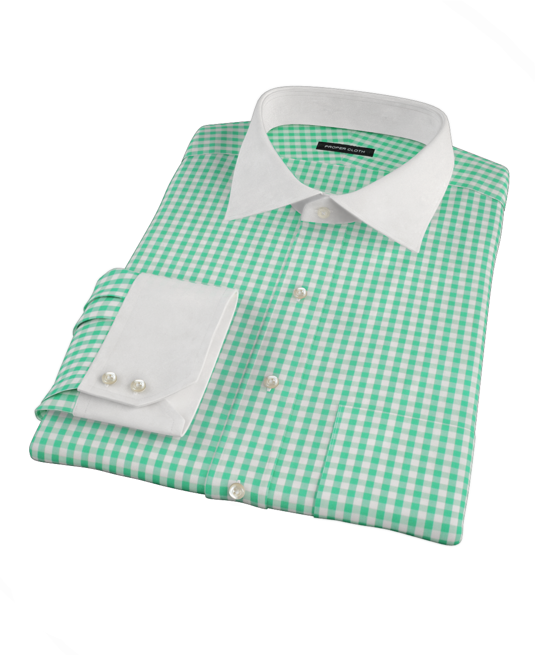 canclini light green gingham men 39 s dress shirt by proper cloth