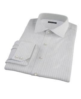 Blue and Green Stripe Fitted Shirt 