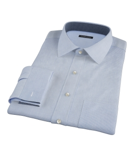 Blue Mini Grid Men's Dress Shirt 