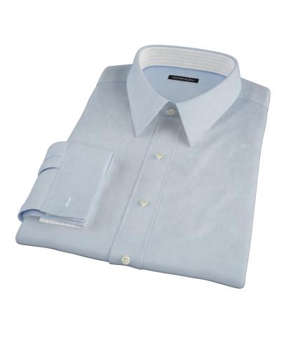 Albini Light Blue Diamond Jacquard Custom Made Shirt