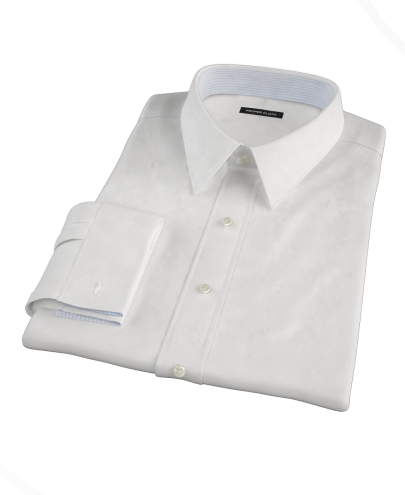 White Royal Dobby Men's Dress Shirt