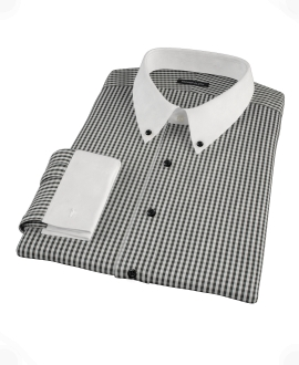 Small Black Gingham Dress Shirt 