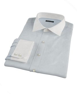 Pale Blue Fine Twill Tailor Made Shirt 