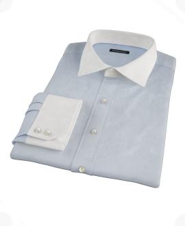 Canclini Light Blue Imperial Twill Dress Shirt