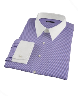 Canclini Blue and Red Stripe Tailor Made Shirt