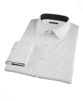White Royal Twill Men's Dress Shirt 