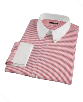 Red Medium Check Tailor Made Shirt