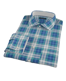 Blue Green Reversible Plaid Dress Shirt