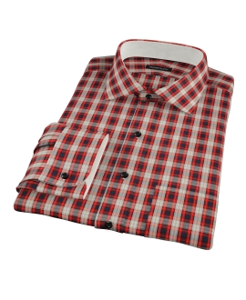 Mandarin Orange Plaid Custom Made Shirt
