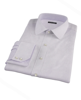 Lavender Dobby Stripe Custom Made Shirt