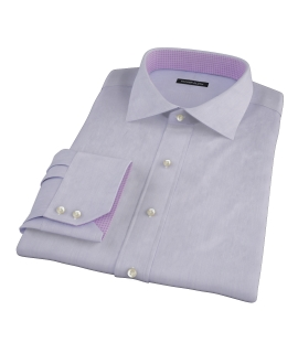 Albini Purple Superfine Stripe Dress Shirt