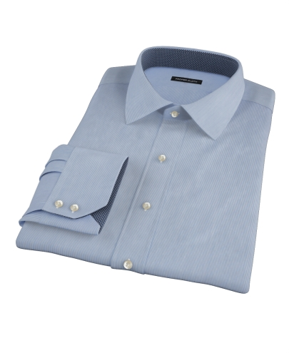 Albini Blue Fine Stripe Tailor Made Shirt