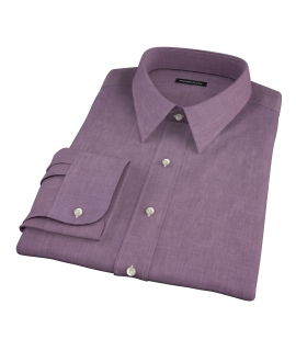 Jones Eggplant End on End Tailor Made Shirt