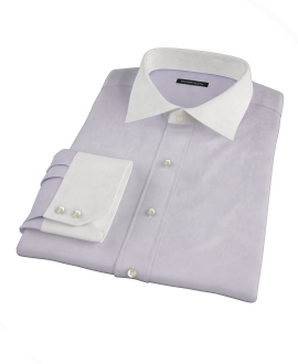 Lavender Imperial Twill Fitted Dress Shirt