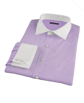 Lavender Mini Gingham Men's Dress Shirt