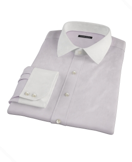 Lavender Fine Twill Custom Dress Shirt
