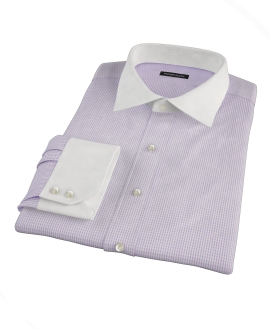 Lavender Multi-Check Tailor Made Shirt