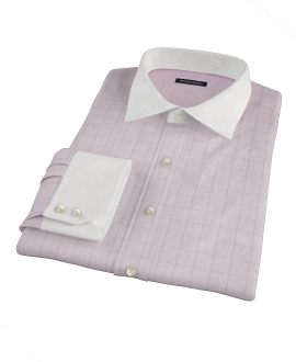 Pink Black Window Grid Dress Shirt