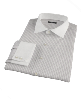 Japanese Lavender and Gray Stripe Custom Made Shirt 
