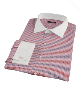 Red and Navy Mini Gingham Tailor Made Shirt