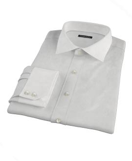 100s Pale Grey Stripe Custom Dress Shirt