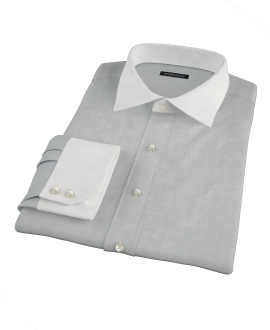 Light Gray Herringbone Tailor Made Shirt